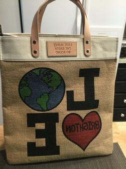 Brighton Tote Bag- Love Makes the Earth Go Round