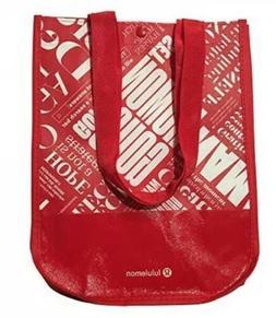 Lululemon Tote Bag Reusable Lunch Shopping Bag Red White Sma