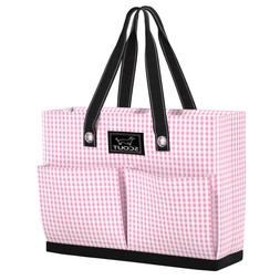 Scout Tote Bag w/Pockets Uptown Girl Victoria Checkham 16 x