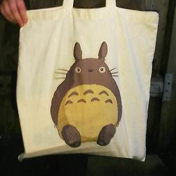 Totoro Canvas Tote Bag, Studio Ghilbi, My Name Is Totoro No.