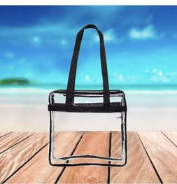 Clear Tote Bag Transparent Purse Backpack Shoulder Handbag N