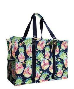 Tropical Pineapple NGIL Canvas Mega Zip Top Shopping Utility
