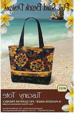 Tuscany Tote Bag Pattern by Pink Sand Beach Designs