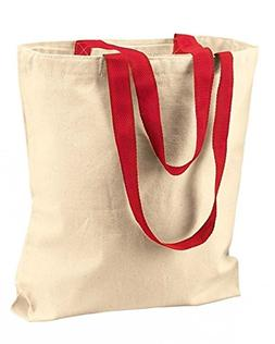 OC Bags - Two Tone cotton Canvas bags with color trim handle