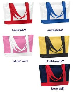 Two-toned Tote bag denier polyester extra durability 18 x 12
