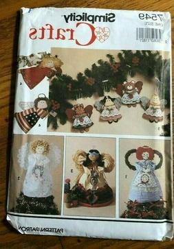 UNCUT SIMPLICITY CRAFTS PATTERN 7549 SEWING ACCESSORIES ONE