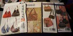 UNCUT Tote Bag/Purse Sewing Patterns Lot 4 Patterns McCall's