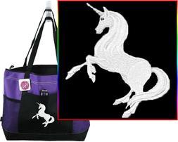 Unicorn Gemline Select Zippered Tote Bag Magical Mystical Ma