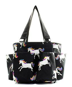 Unicorn NGIL Small Zippered canvas purse Caddy Organizer Tot