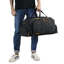 Plambag Unisex Oversize Duffel Bag Canvas Weekend Bags Trave