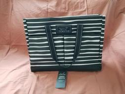 Scout Uptown Girl Tote Bag Black Stripe Striped Pockets Beac