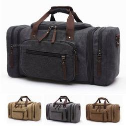 US Mens Canvas Luggage Duffle Bag Gym Handbag Outdoor Sports