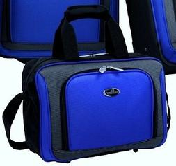 """US Traveler Blue New Yorker Carry-on Luggage 15"""" Boarding To"""