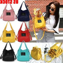 US Women Canvas Handbag Shoulder Bags Small Tote Purse Trave