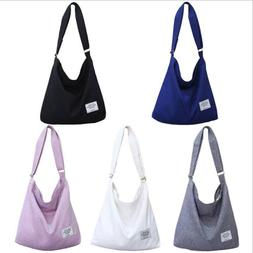 US Women's Canvas Handbag Messenger Shoulder Bag Satchel Tot