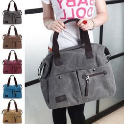US Women's Canvas Retro Handbag Shoulder Messenger Bag Satch