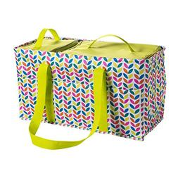 Large Utility Tote Bag With Handles 2 Zippered Coolers, Heav