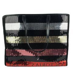 Victoria Secret Large Tote Bag Black Red Pink Gold Silver Se