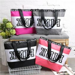 Victoria Secret s LOVE PINK Black color  zip tote bag size M