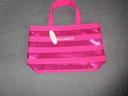 Victoria Secret tote bag sequin embelished small handbag pin