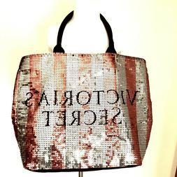 Victorias Secret Large Tote Bag Black Friday 2015 Sequin Pin