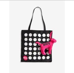 VICTORIAS SECRET PINK PACKABLE Dot DOG TOTE SHOPPING BEACH G