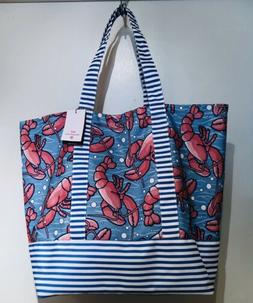 Vineyard Vines Target LOBSTER Beach Large Tote Bag Navy Whit