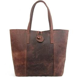 Jack&Chris New Vintage Cowhide Leather Handbag Tote Shoulder