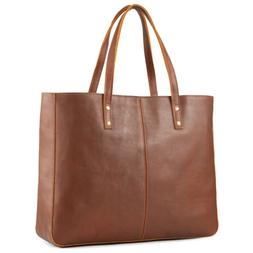 Kattee Vintage Fashion Women Cowhide Leather Tote Bag Large