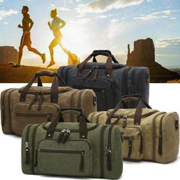 vintage large canvas men s travel luggage