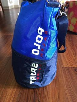 Vintage Polo Sport Ralph Lauren Vtg Tote Bag Blue Black Duff