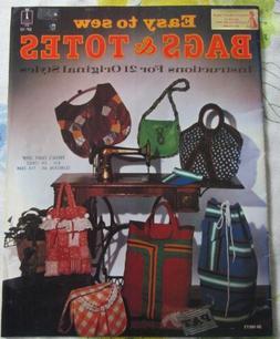VTG Easy to Sew BAGS & TOTES 21 Purses Handbags Duffel Eveni