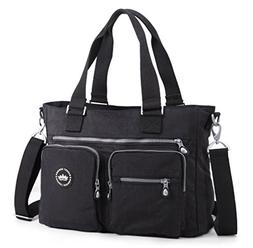Crest Design Water Repellent Nylon Shoulder Bag Handbag, 14