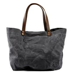 Waxed Canvas Shoulder Tote Bag Travel Handbags Water Repelle