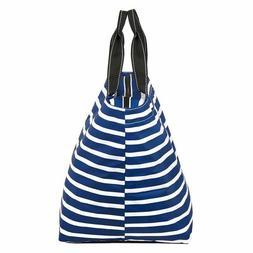 Scout Weekender tote bag Navy stripe Nantucket navy weekend