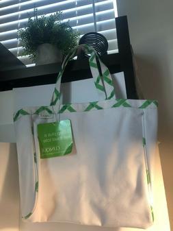 Clinique White Small Canvas TOTE BAG