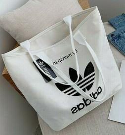 White Adidas Tote Bag - New Women's Trendy Casual Relaxed Ev