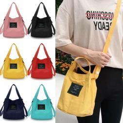 Women Canvas Handbag Shoulder Bags Small Tote Purse Travel M