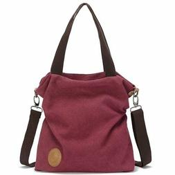 Women Canvas Shoulder Bag Casual Tote Bag, Myhozee Cross Bod