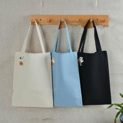 Women Canvas Tote Bag Shopper Shopping Bags Lunch Bag Storag