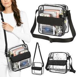 Women Clear Tote Bag Crystal PVC Handbag Shoulder Transparen