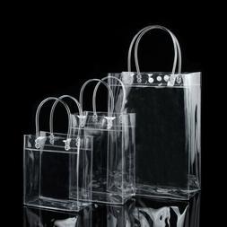Women Clear Tote Bag Bags PVC Transparent Handbag Shoulder B