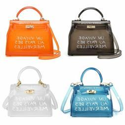 Women Clear Tote Bag PVC Handbag Shoulder Transparent Jelly