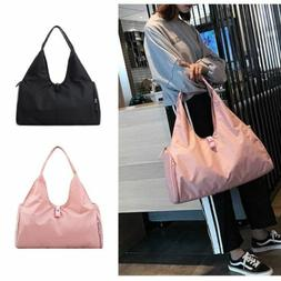 Women Fashion Sport Gym Bags Shoulder Tote Fitness Training