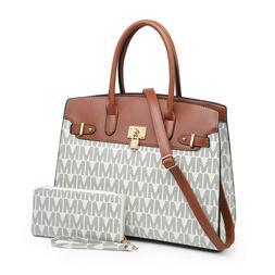Women Fashion Tote Bag Faux Leather Satchel Shoulder Handbag