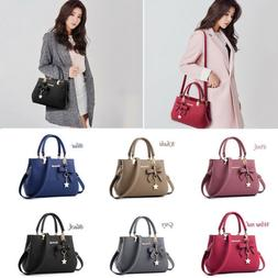 Women Handbag Bow Leather Briefcase Shoulder Bags Tote Ladie