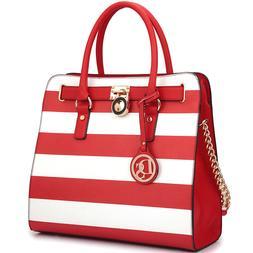 Dasein Women Handbags Faux Leather Tote Shoulder Bag Satchel