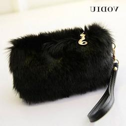 Women Handbags Fur Clutch Female <font><b>Tote</b></font> Wr