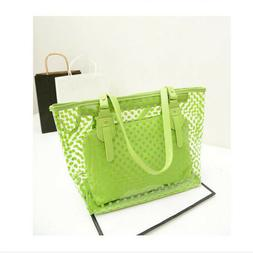 Women Jelly Candy Clear Transparent Handbag Tote Shoulder Ba