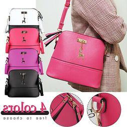 Women Ladies Leather Handbag Shoulder Bag Crossbody Tote Mes